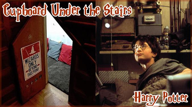 ハリーポッターが住んでいたダーズリー家の階段下の部屋を再現!