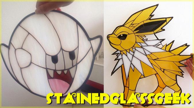 ギークカルチャーに触発されたユニークなステンドグラスアート!