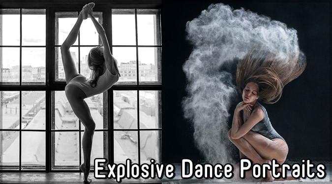 プロダンサーの爆発的なダンスを収めた写真シリーズ