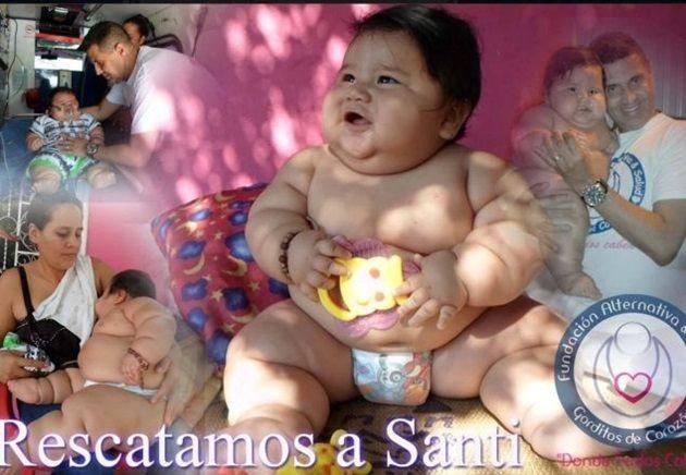 日本でも話題のコロンビアの太った赤ちゃん!8ヶ月で21kg!?