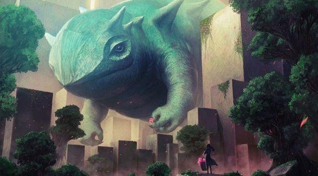 SFファンタジーの世界に潜む巨大クリーチャーを描いた作品