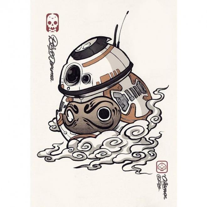スターウォーズのキャラクターを日本風に描いたイラスト作品 パラリウム