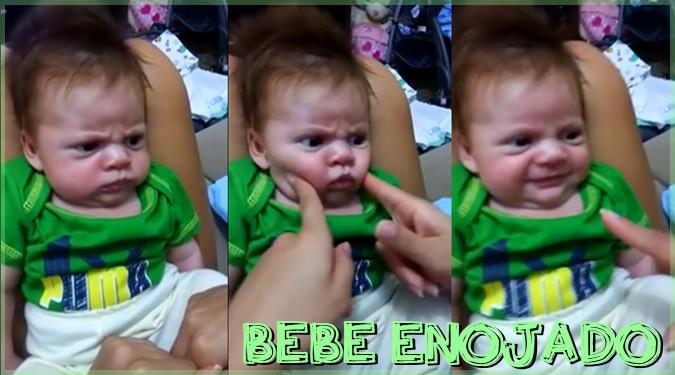 険しい表情の激おこ赤ちゃん!一瞬見せる笑顔が可愛すぎる!