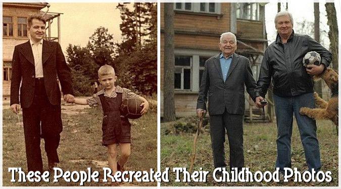 あの時のあの場所でもう一度。子ども時代の懐かしい写真を再現した人々!