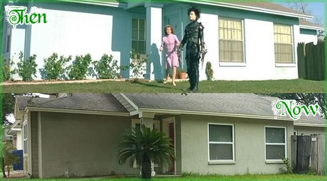 25年前の映画「シザーハンズ」のロケ地を現在と比較した写真シリーズ