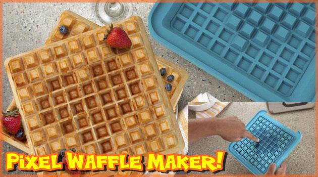 あなたの朝食が劇的に変わるピクセルワッフルメーカー