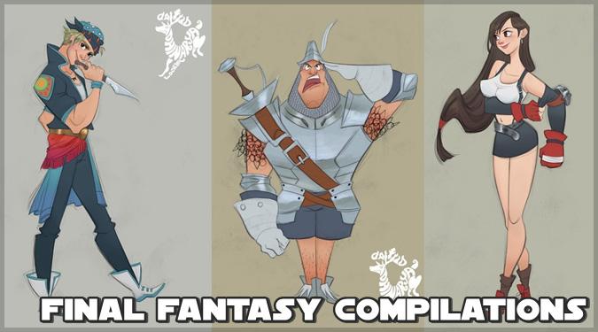もしもファイナルファンタジーのキャラクターがディズニーにいたら?