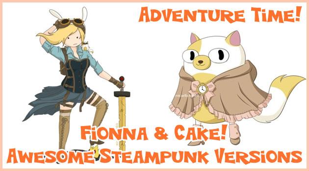 フィオナ&ケイクの仲間たちをスチームパンク風に描いたイラスト