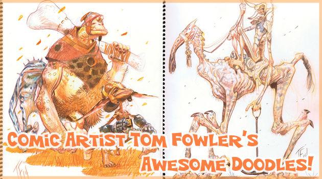 アメコミの漫画家が描いた素晴らしいモンスターの落書き集!