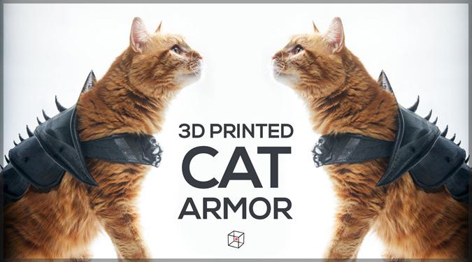 お外が大好きな猫のための鎧!3Dプリンターで作る猫専用アーマー
