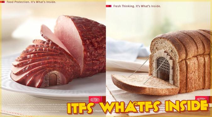 美味しそうな食べ物をお家にしたユニークな広告作品
