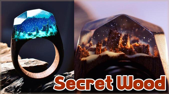 指輪の中に広がる美しい世界。魅力的な木製の指輪「Secret Wood」