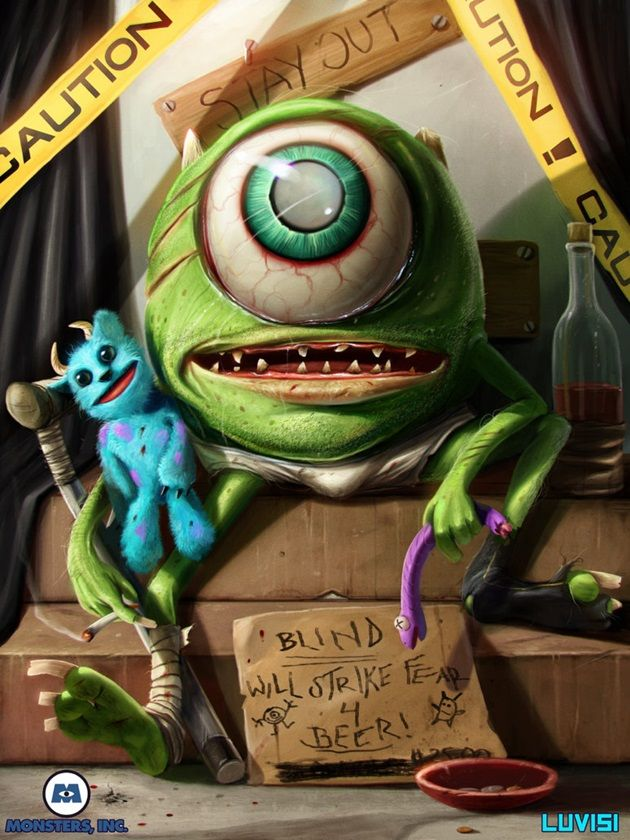 mike_wazowski___by_danluvisiart-d66ahsx
