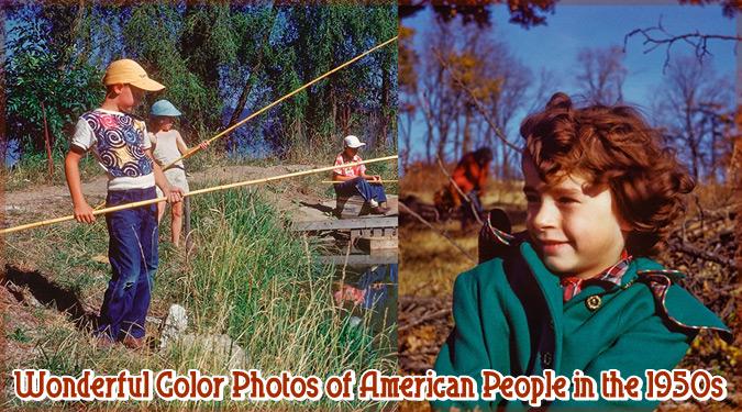 1950年代に撮影されたアメリカの人々の素晴らしいカラー写真集