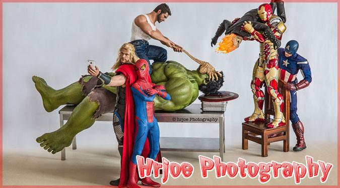 アメコミヒーローたちのフィギュアを上手に使った笑える写真集!