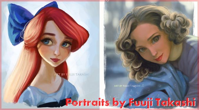 ポップカルチャーなどの女性を独自のスタイルで描いた肖像画作品