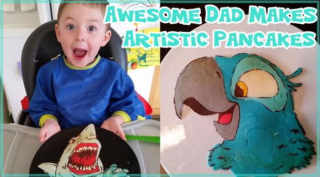 お父さんが子どものために作った動物のパンケーキ!