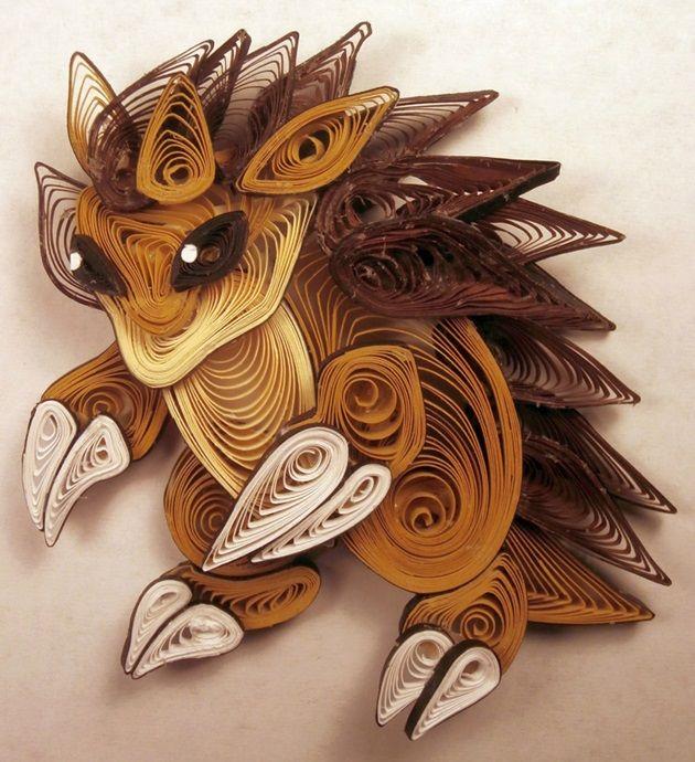 quilled-paper-pokemon-sandslash