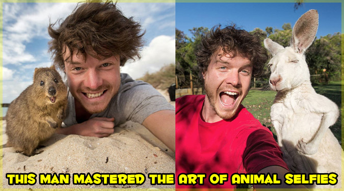 まるで動物が恋人かのような笑顔いっぱいの自撮りシリーズ!