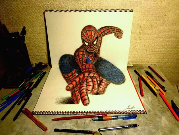 3d_drawing___the_amazing_spider_man2_by_nagaihideyuki-d7aoc5x