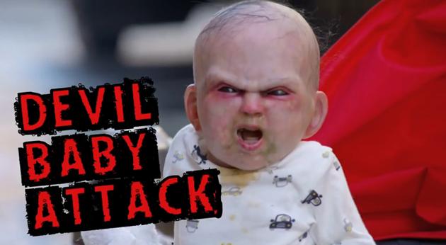 ニューヨーカーにドッキリを仕掛ける!恐怖の悪魔の赤ちゃん!