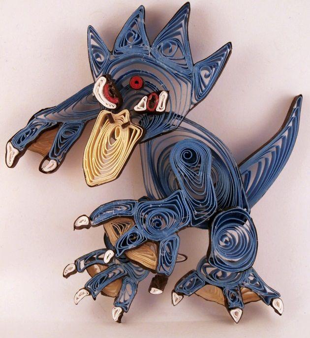 quilled-paper-pokemon-golduck