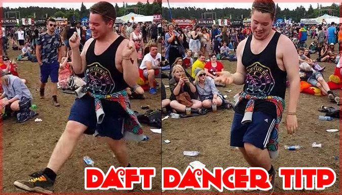 野外フェスでエネルギッシュに踊る18歳の青年が大人気に!