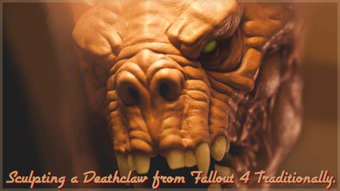 フォールアウト4のデスクローを彫刻にしたアート作品