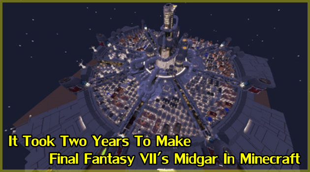 マインクラフトで制作したファイナルファンタジーのミッドガル!
