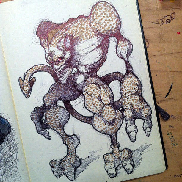 monstrous-alien-like-creature-sketchbook-drawing-5