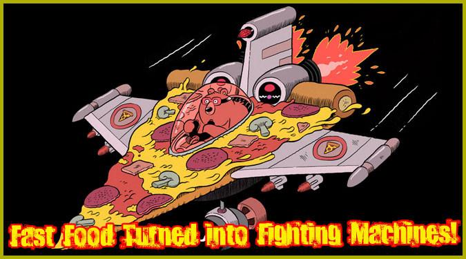 英国の漫画家によるファーストフードを戦闘マシンにしたゆるカワ作品