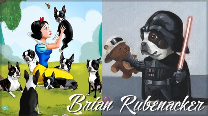 愛らしい犬とポップカルチャーを融合したイラスト作品集!
