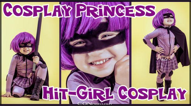 キック・アスのヒットガールにコスプレした小さな女の子!