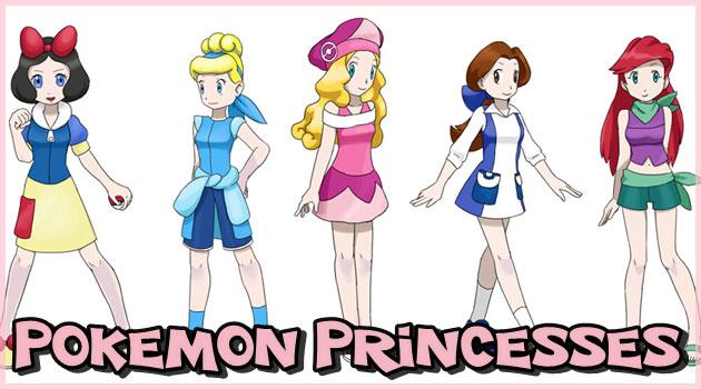 ポケモンとディズニープリンセスの夢のマッシュアップ作品