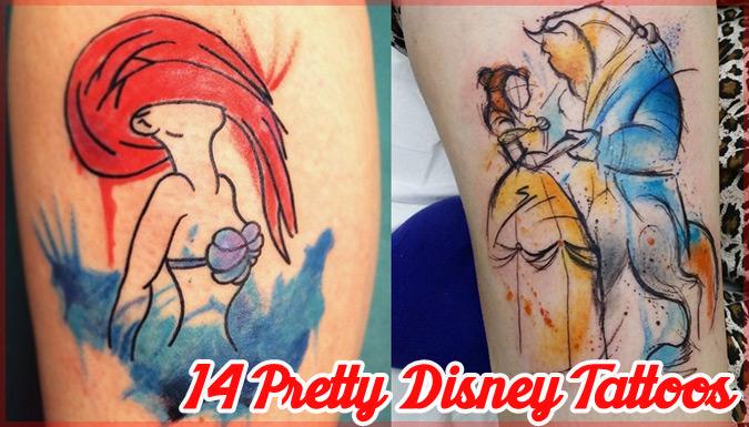 ディズニー映画からインスパイアされた美しいタトゥーコレクション