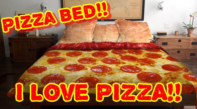 ペパロニのピザに包まれて眠りたい人のためのピザベッド!