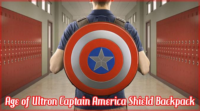 キャプテン・アメリカのシールド型バックパック!攻撃も防御も完璧!