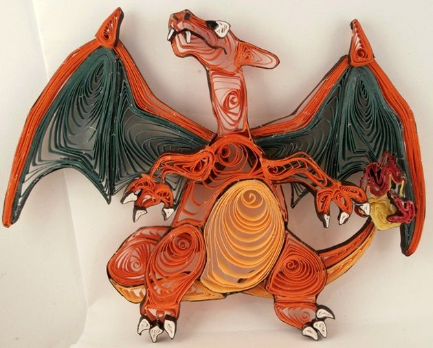 quilled-paper-pokemon-charizard