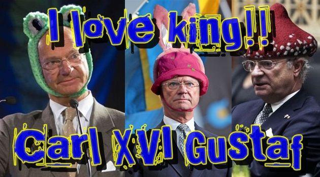スウェーデンの愛される国王!愛されるあまりにコラ画続出
