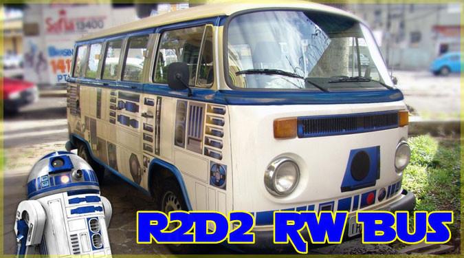 フォルクスワーゲンバスをR2D2モデルにしたカスタム車!
