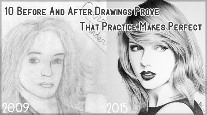 上達の過程が丸分かり!アーティストの過去と現在の絵を比較した画像集!