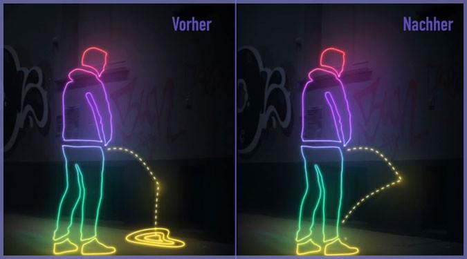 ドイツで行われた超撥水性物質を使うユニークな立ちション対策!