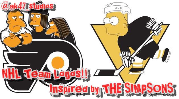 アイスホッケーチームのロゴをシンプソンズにしてみた!