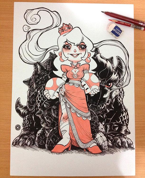 yakuza-peach-and-bowser