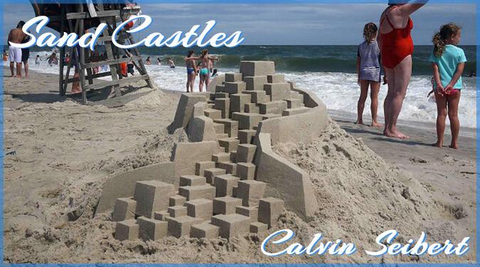 子供にはマネできない!アーティストによる幾何学的な砂のお城シリーズ