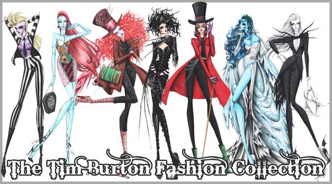 ティム・バートンの映画キャラクターに触発された女性ファッション作品!
