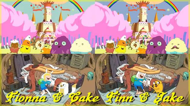 アドベンチャータイムのフィンとフィオナのOPを比較した動画!