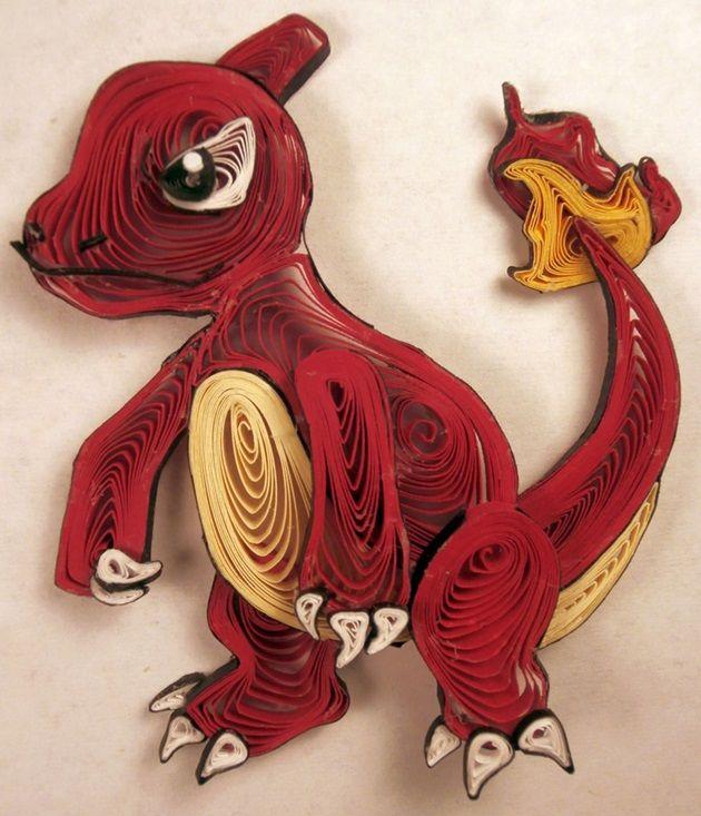quilled-paper-pokemon-charmeleon