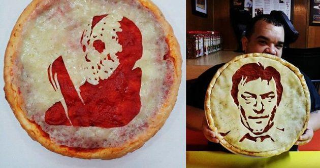 ホラー映画のキャラクターとピザを組み合わせたホラーピザ!