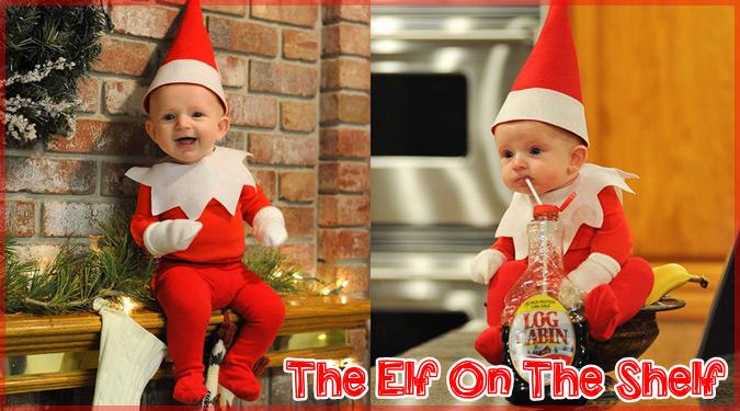 生後4ヶ月の息子と作ったエルフ・オン・ザ・シェルフの写真シリーズ